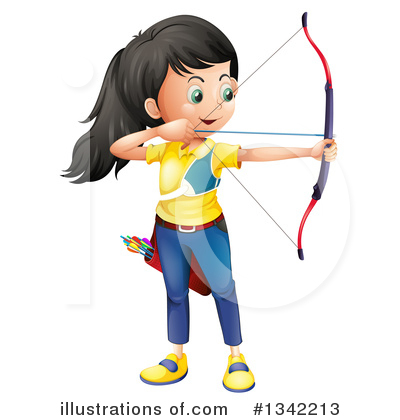 Archery Clipart #1342213 by Graphics RF