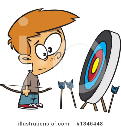 Archery Clipart #1346448 by toonaday