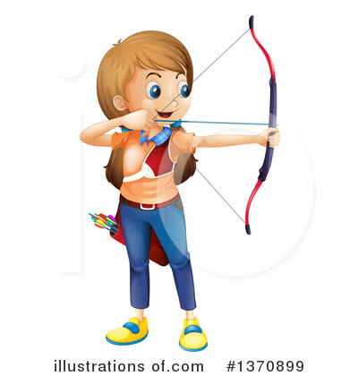 Archery Clipart #1370899 by Graphics RF