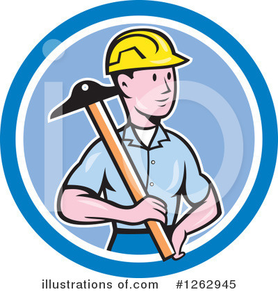 Builder Clipart #1262945 by patrimonio