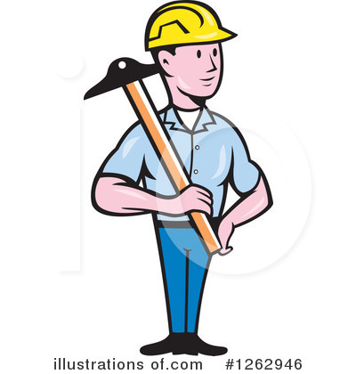 Builder Clipart #1262946 by patrimonio