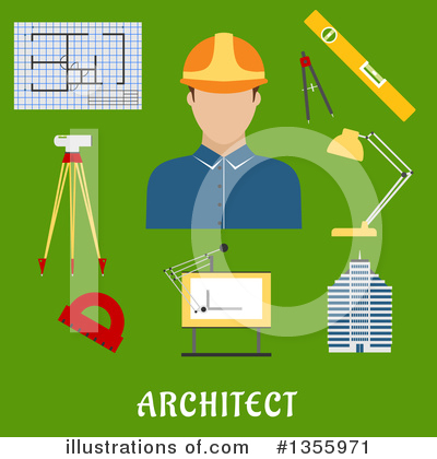 Builder Clipart #1355971 by Vector Tradition SM
