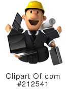Royalty-Free (RF) Architect Clipart Illustration #212541