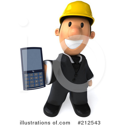 Royalty-Free (RF) Architect Clipart Illustration by Julos - Stock Sample #212543