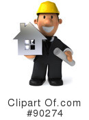 Royalty-Free (RF) Architect Guy Clipart Illustration #90274