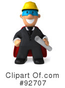 Royalty-Free (RF) Architect Guy Clipart Illustration #92707