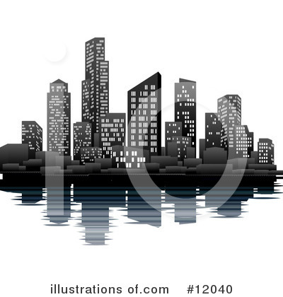 Skyscraper Clipart #12040 by AtStockIllustration