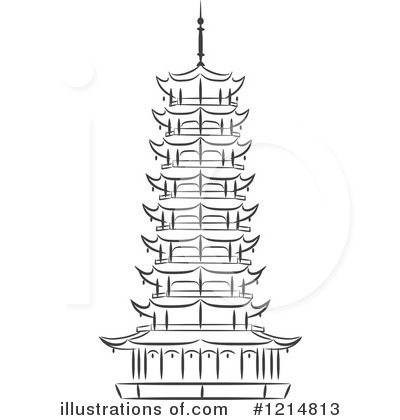Pagoda Clipart #1214813 by Vector Tradition SM