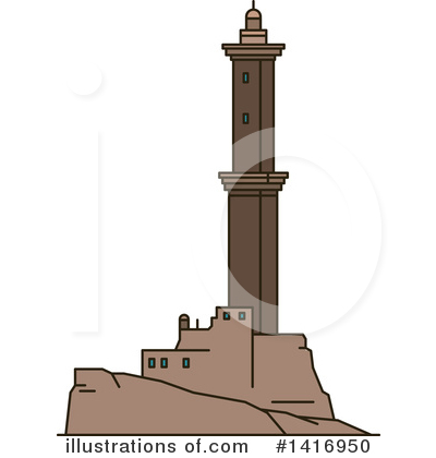 Lighthouse Clipart #1416950 by Vector Tradition SM