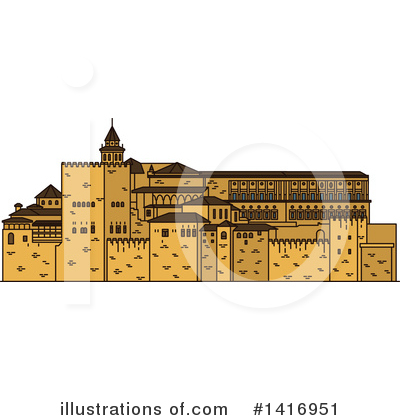 Fortress Clipart #1416951 by Vector Tradition SM