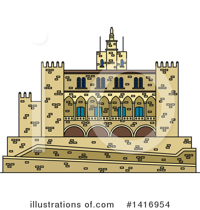 Fortress Clipart #1416954 by Vector Tradition SM