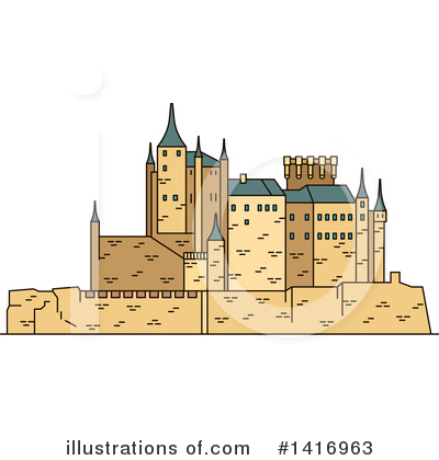 Fortress Clipart #1416963 by Vector Tradition SM