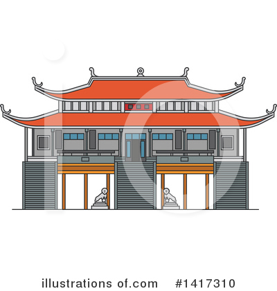 Pagoda Clipart #1417310 by Vector Tradition SM