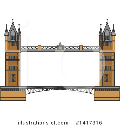 Bridge Clipart #1417316 by Vector Tradition SM