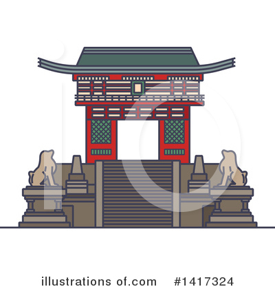 Japanese Clipart #1417324 by Vector Tradition SM