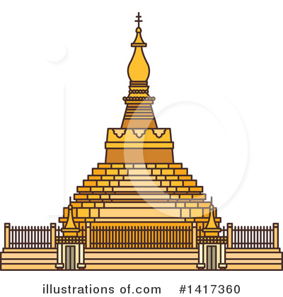 Pagoda Clipart #1417360 by Vector Tradition SM