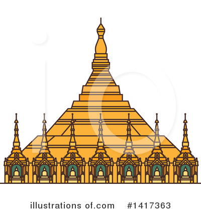 Pagoda Clipart #1417363 by Vector Tradition SM