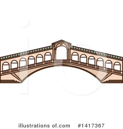 Bridge Clipart #1417367 by Vector Tradition SM