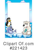 Royalty-Free (RF) Arctic Animals Clipart Illustration #221423