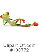Royalty-Free (RF) Argie Frog Clipart Illustration #100772