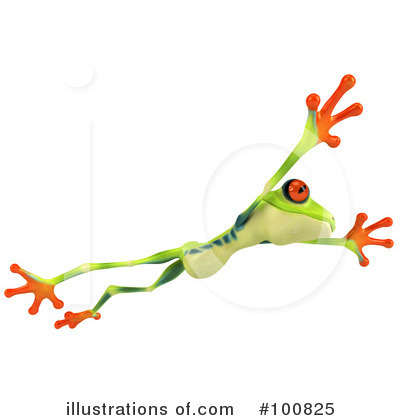 Royalty-Free (RF) Argie Frog Clipart Illustration by Julos - Stock Sample #100825