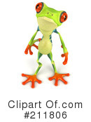 Royalty-Free (RF) Argie Frog Clipart Illustration #211806
