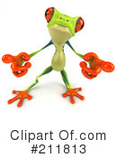Royalty-Free (RF) Argie Frog Clipart Illustration #211813