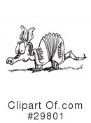 Royalty-Free (RF) Armadillo Clipart Illustration #29801