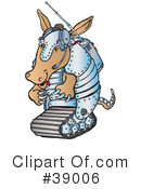 Royalty-Free (RF) Armadillo Clipart Illustration #39006