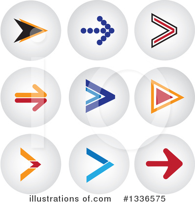 Royalty-Free (RF) Arrow Clipart Illustration by ColorMagic - Stock Sample #1336575