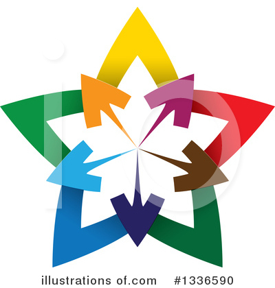 Royalty-Free (RF) Arrow Clipart Illustration by ColorMagic - Stock Sample #1336590