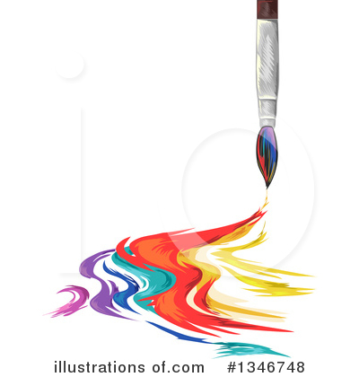Paintbrush Clipart #1346748 by BNP Design Studio