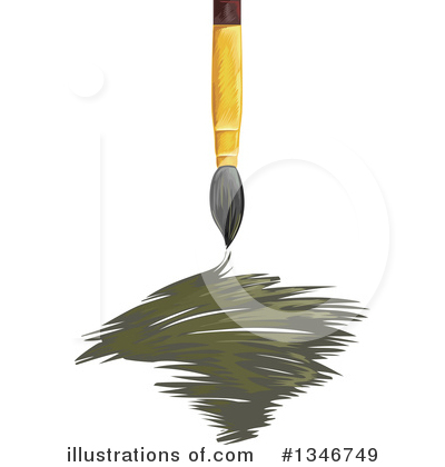 Paintbrush Clipart #1346749 by BNP Design Studio