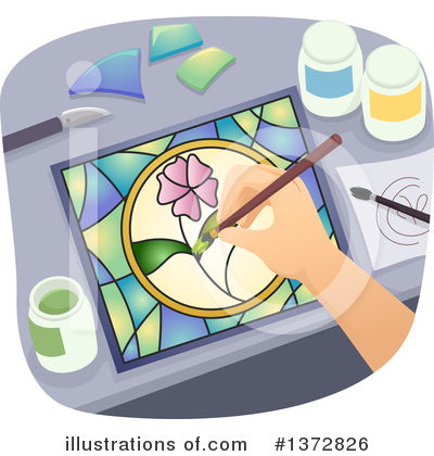 Stained Glass Clipart #1372826 by BNP Design Studio