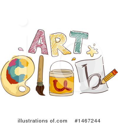 Paintbrush Clipart #1467244 by BNP Design Studio