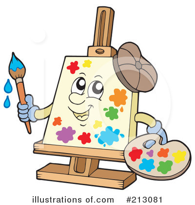 Easel on Royalty Free  Rf  Art Clipart Illustration By Visekart   Stock Sample