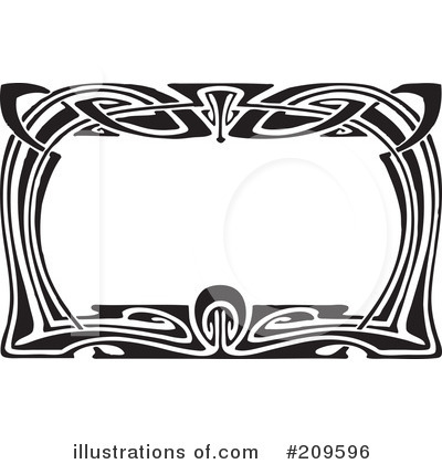 Royalty-Free (RF) Art Deco Clipart Illustration by BestVector - Stock Sample #209596