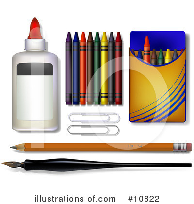 Office Supplies Clipart #10822 by Leo Blanchette