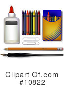 Royalty-Free (RF) Art Supplies Clipart Illustration #10822
