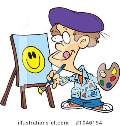 Painting Clipart #1046154 by toonaday