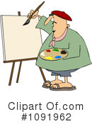 Royalty-Free (RF) Artist Clipart Illustration #1091962