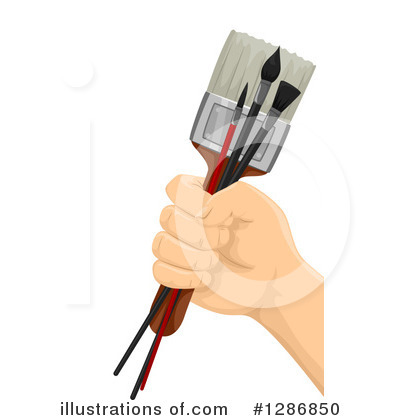 Paintbrush Clipart #1286850 by BNP Design Studio