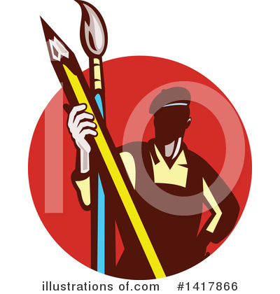 Painter Clipart #1417866 by patrimonio