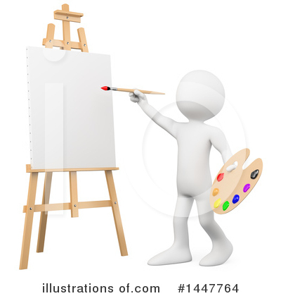 Painter Clipart #1447764 by Texelart