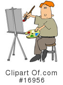 Royalty-Free (RF) Artist Clipart Illustration #16956