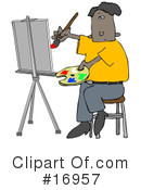 Royalty-Free (RF) Artist Clipart Illustration #16957