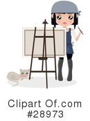 Royalty-Free (RF) Artist Clipart Illustration #28973