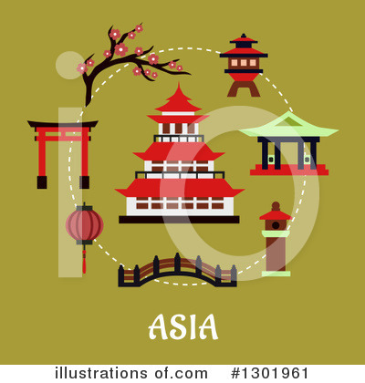 Pagoda Clipart #1301961 by Vector Tradition SM