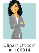 Asian Businesswoman Clipart #1106814 by Amanda Kate