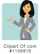 Asian Businesswoman Clipart #1106815 by Amanda Kate